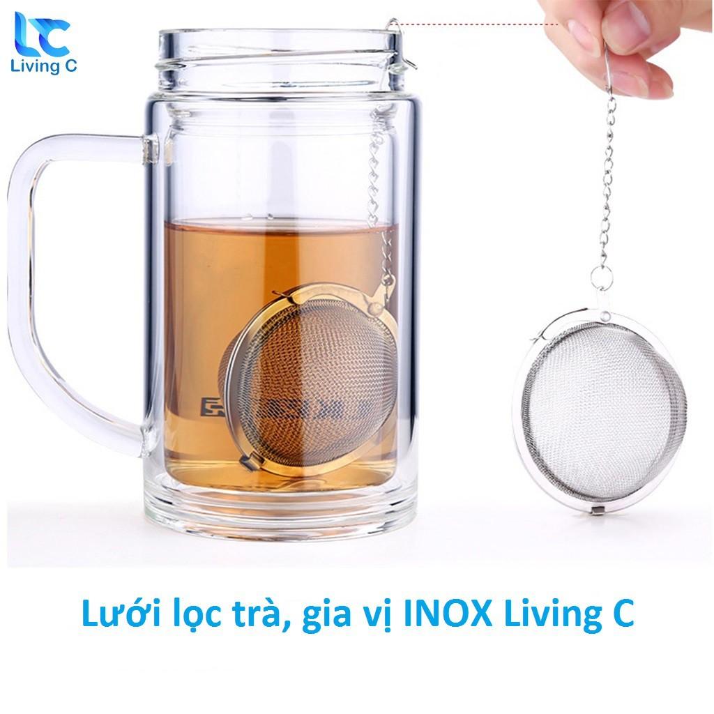 Lưới lọc trà , lọc gia vị INOX hình cầu Living C_ BX