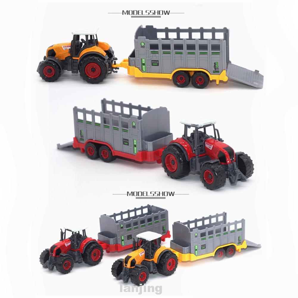 6pcs 1:64 Scale Farmer Vehicle Model Planters Trailers Collectible Eco-friendly Paint Children Gift