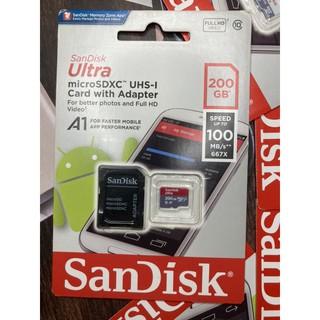 Thẻ nhớ sandisk 200GB Class 10(kèm adapter)