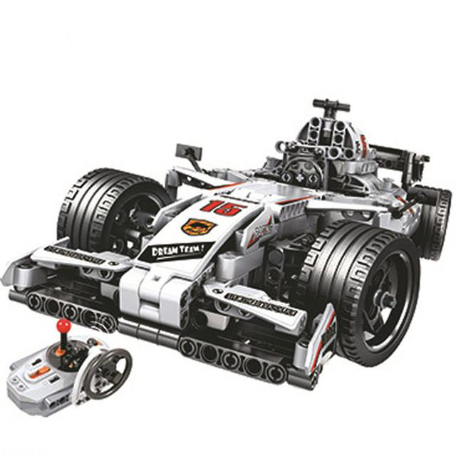 F1 Racing Car Remote Control Building Blocks Kids Technic Toys Lego Comparible