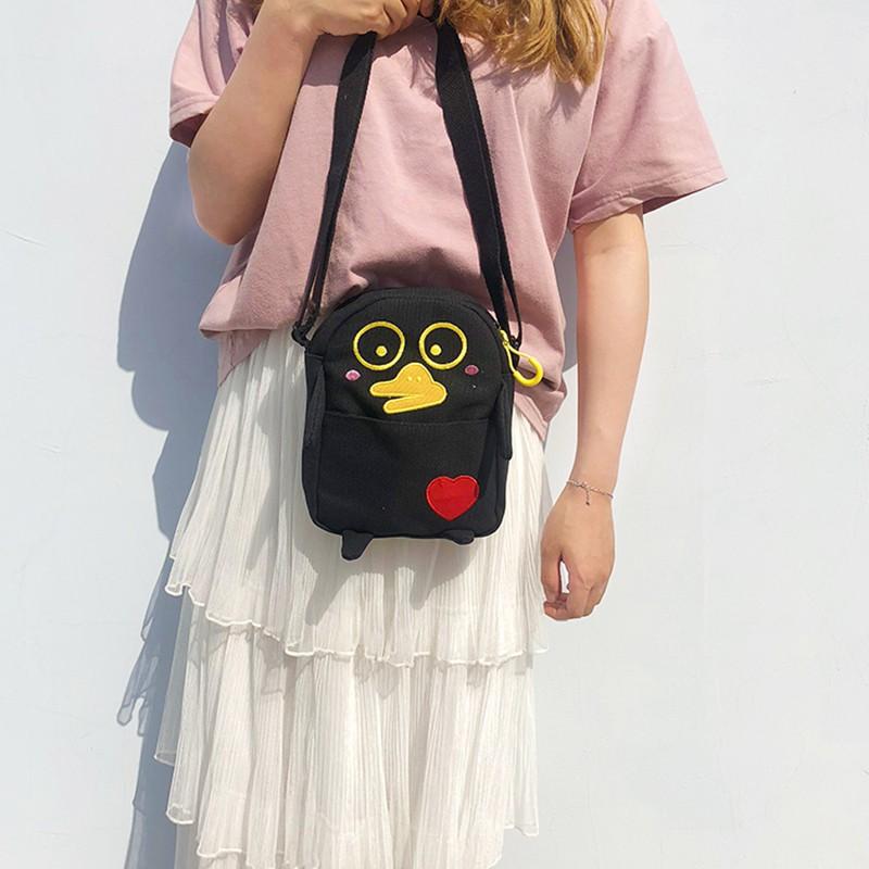 Túi xách nữ vải canvas thời trang Nhật Bản