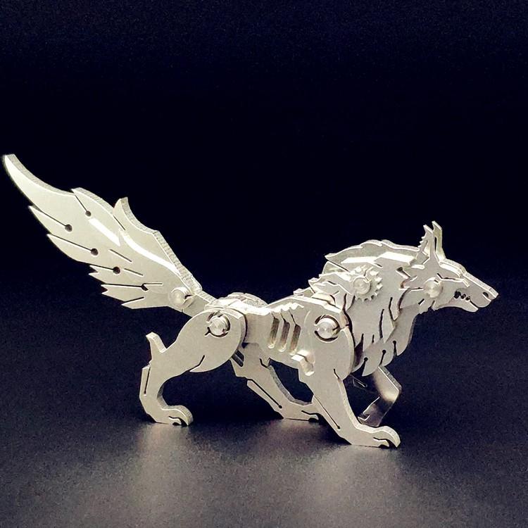 Mô Hình Lắp ghép 3d Kim Loại dùng vít sói hoang(CÓ SẴN)