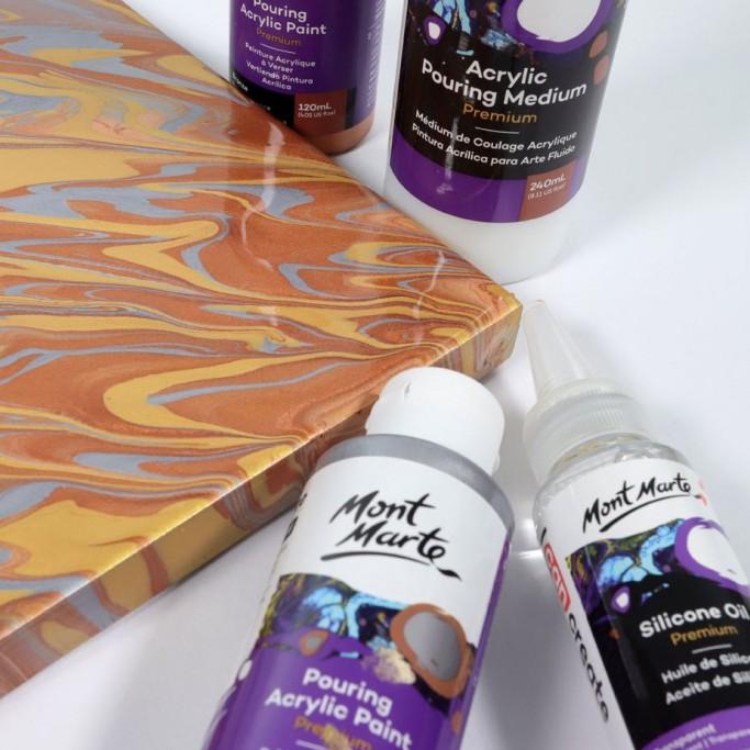 Bộ màu đổ MONT MARTE Premium Pouring Acrylic Paint set 4 chai 60ml - Mực  Các Loại   GiaSach.com