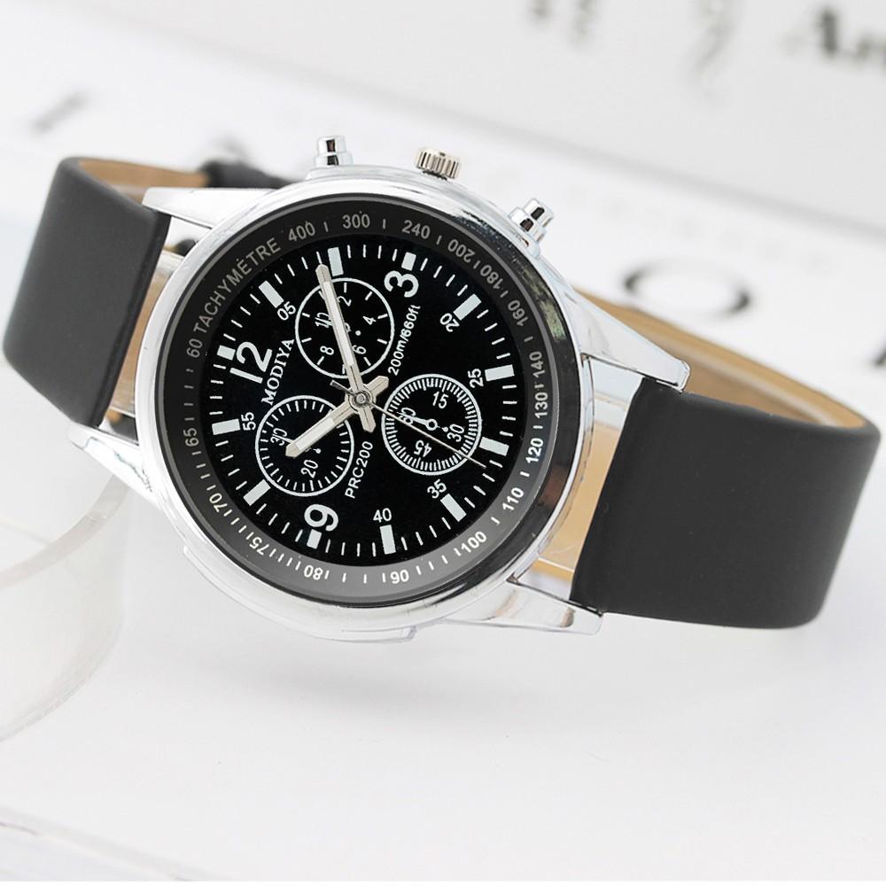 Aikefan Three Eye Watches Quartz Men's Watch Blue Glass Belt Watch Men