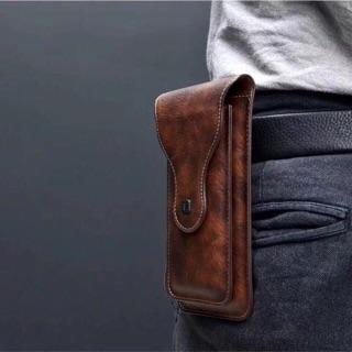 Bao da đeo thắt lưng đựng được 2 điện thoại (hình thật)