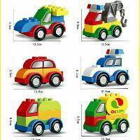 Bộ LEGO (lớn) combo 6 xe lắp ráp