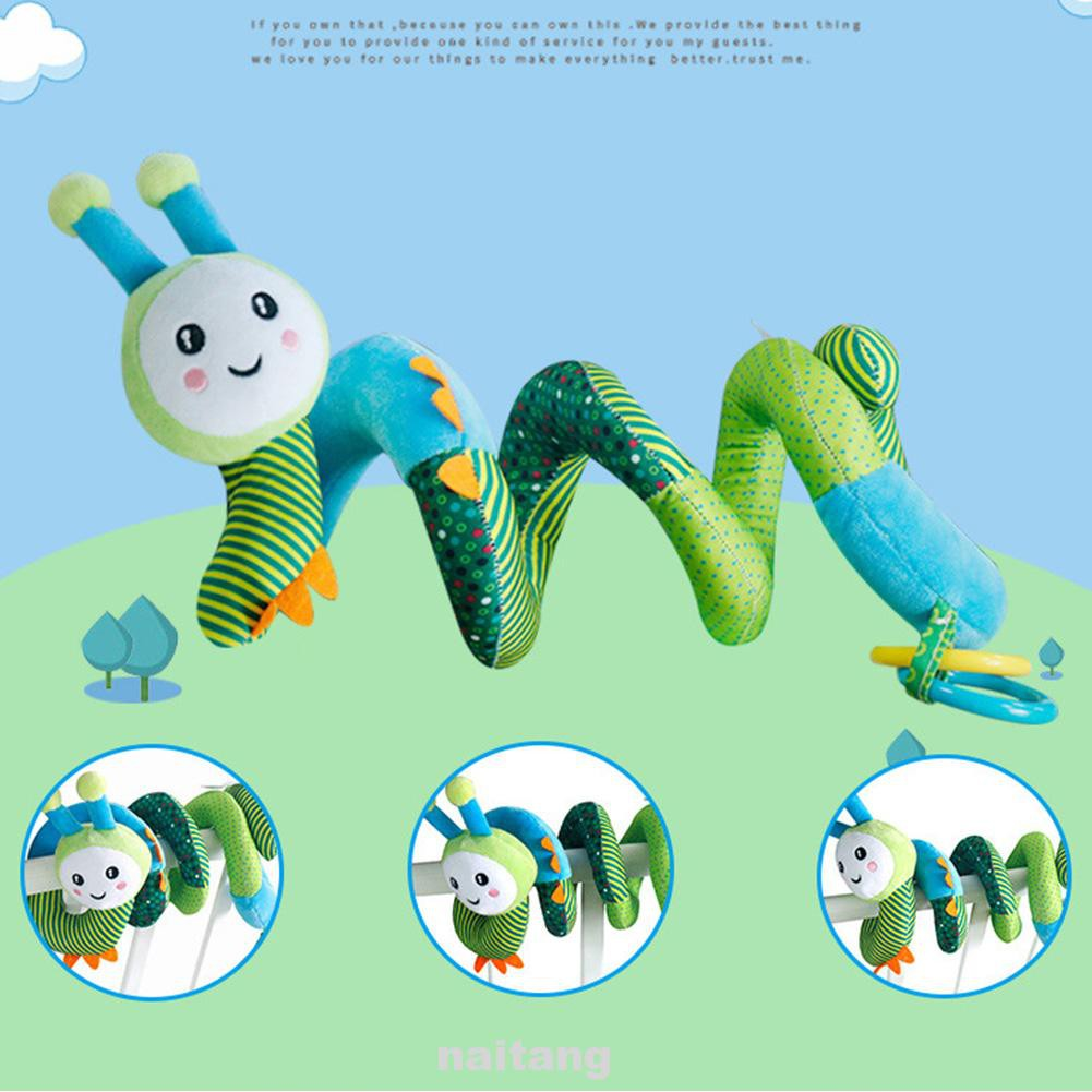 Bed Bells Cute Bee Clear Sound Car Seat Easy Clean Soft Plush Kids Room Non Toxic Hanging Elastic Baby Spiral Rattle Toy