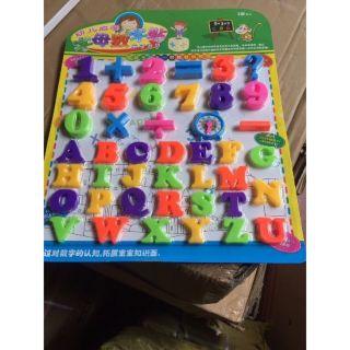 Bảng chữ cái, số và dấu cho bé