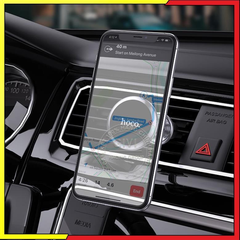 Giá đỡ điện thoại Hoco CA69 trên xe hơi, sử dụng đa năng tiện dụng, tương thích các thiết bị dán từ tính