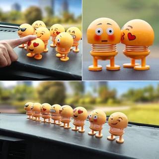 Sét 2-6 thú nhún lò xo Emoji nhiều biểu cảm siêu hót