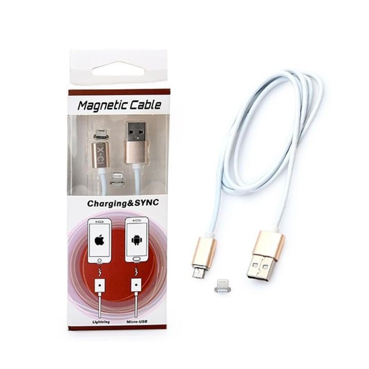 Cáp sạc nam châm chuẩn Lightning và Micro USB - 3053621 , 287183058 , 322_287183058 , 85000 , Cap-sac-nam-cham-chuan-Lightning-va-Micro-USB-322_287183058 , shopee.vn , Cáp sạc nam châm chuẩn Lightning và Micro USB