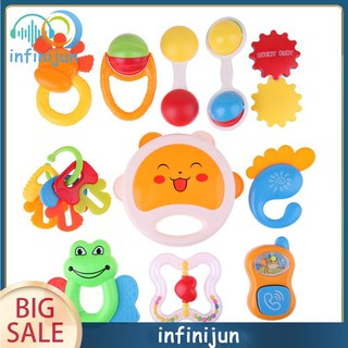 Baby Toy Cartoon Cute Early Educational Plastic Hand Rattles toy Music Sound Appease Toys Kids PNLO
