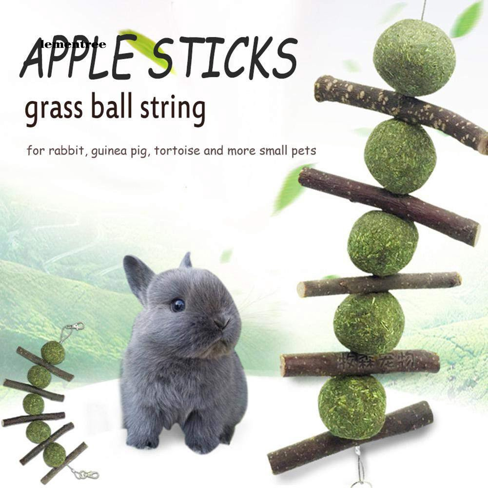 Teeth Cleaning Molar Snacks Chew Stick Grass Ball Toy for Rabbit Hamster Rat