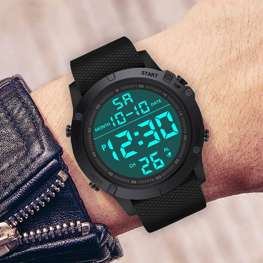 Đồng hồ điện tử chống thấm nước phong cách quân đội cho nam