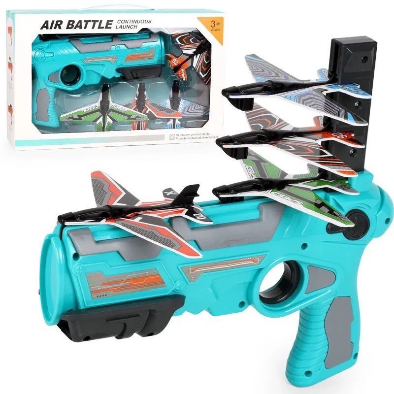 Đồ chơi bắn máy bay, đồ chơi vận động ngoài trời cho bé từ 3 tuổi