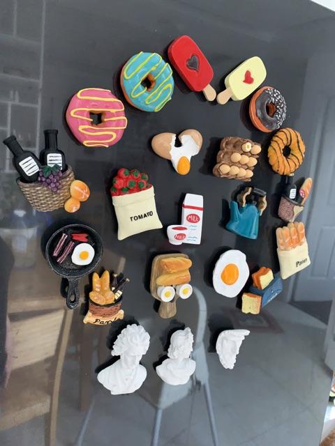 Nam châm hít dán dính tủ lạnh trang trí hình ảnh phong cách phụ kiện bếp Châu Âu.