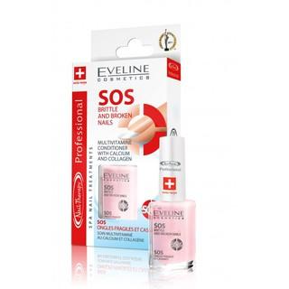 Dưỡng móng SOS Canxi và collagen Eveline 12ml