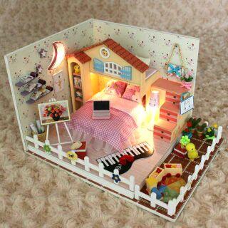 Mô hình nhà gỗ búp bê dollhouse DIY – D025 Moon