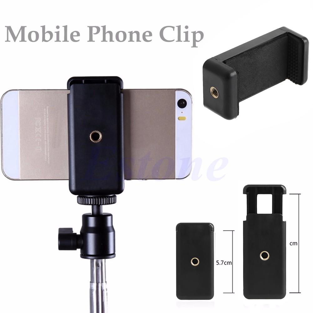 Universal Tripod Monopod Stand Mount Selfie Clip Bracket Holder For HTC iPhone 6