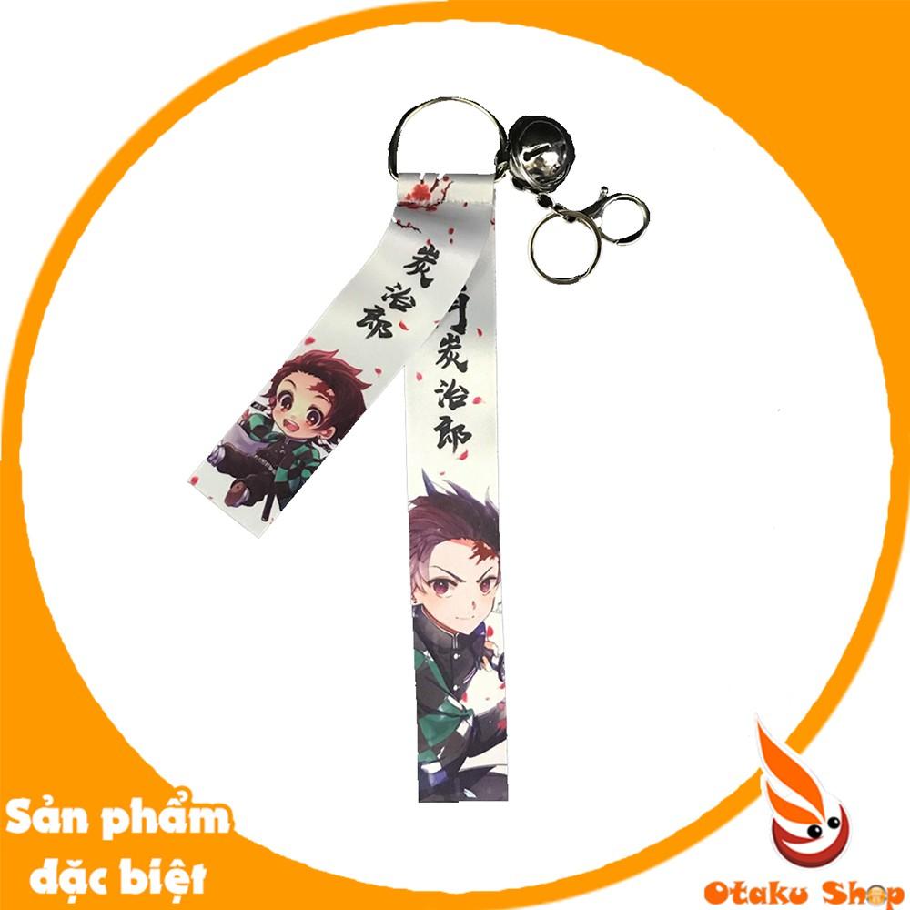 Móc Khóa dây vải có chuông hình Anime Kimetsu no Yaiba - Demon Slayer