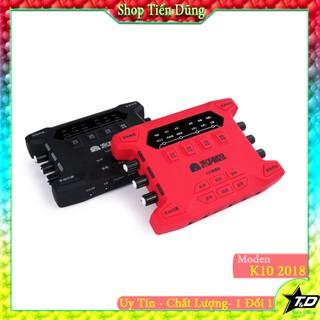 Sound card XOX K10 bản 2018 cho micro thu âm có autu-tune- Dòng sound card k10 có hỗ trợ cài đặt các phầm mền