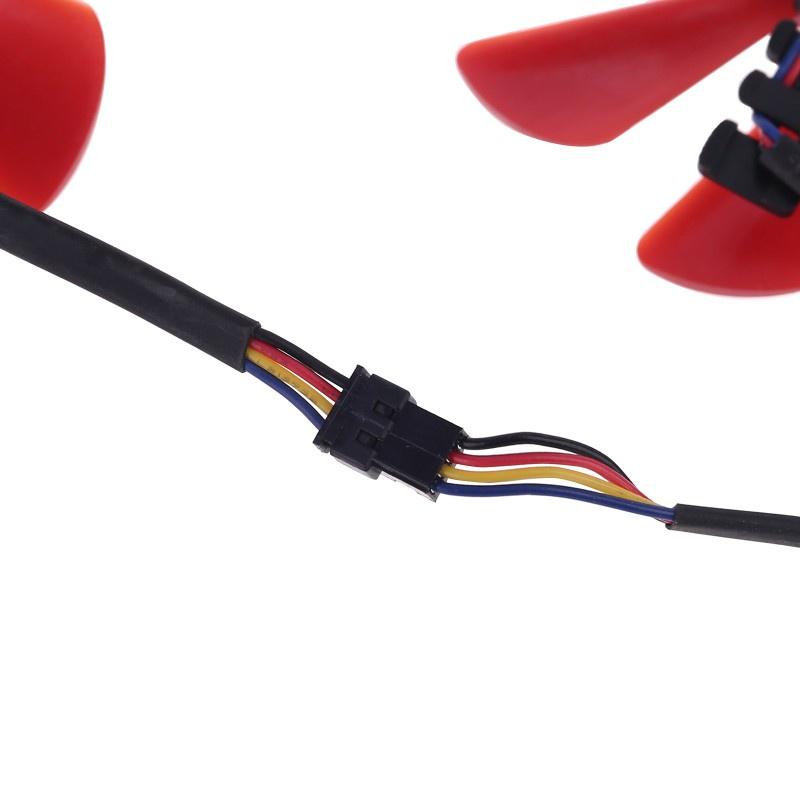 Bộ 2 Quạt Tản Nhiệt 85mm Rx-570-Rs Rx-580-Rs Fd10U12S9-C Cho Xfx Rx470 Rx570 Rs580 Rs