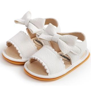 Giày sandal tập đi cao cấp cực chất đế cao su chống trơn trượt chất da mềm mại đính nơ dễ thương cho bé gái.Loại 1 2