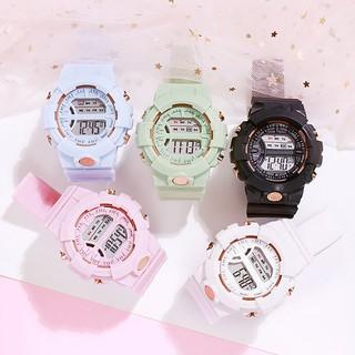 Hình ảnh Đồng hồ nữ và nam Tisselly điện tử c562 mẫu thể thao đầy đủ các chức năng và dây nhựa-1