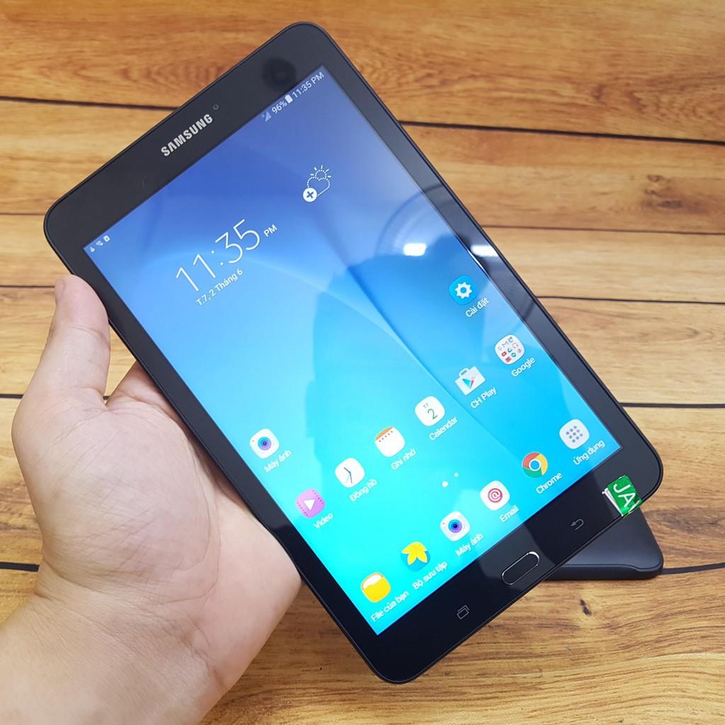 Máy tính bảng Samsung Galaxy Tab E 8.0 4G LTE 16GB/32GB Hàng Mỹ(có bao da+cường lực)