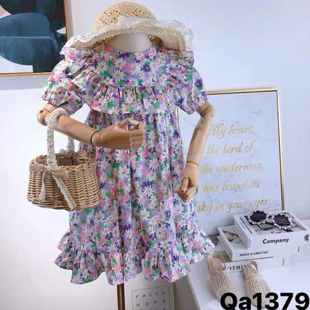 Váy hoa nhí tím