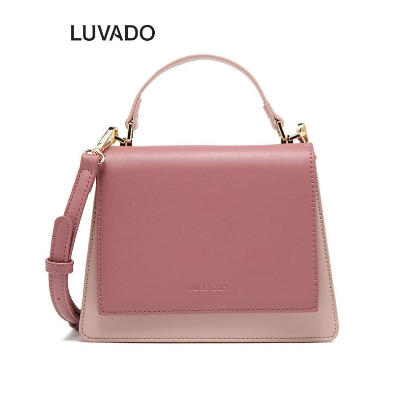 Túi đeo chéo nữ da mềm cá tính MICOCAH dễ thương nhiều ngăn LUVADO TX487