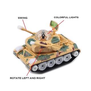 Large Universal Music Lights Military Tank Model Toys Simulation Battle Tank