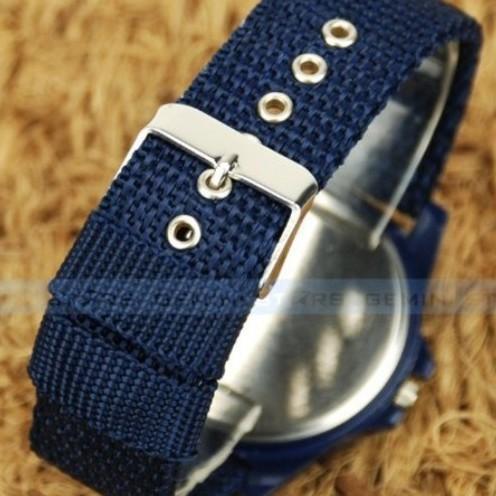 Đồng hồ thời trang nam nữ Arrmy dây màu xanh biển A78.