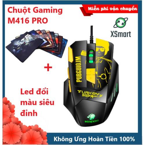 Chuột Gaming Máy Tính Siêu Độc M416 Premium LED RGB Cao Cấp Kèm Lót Chuột Game