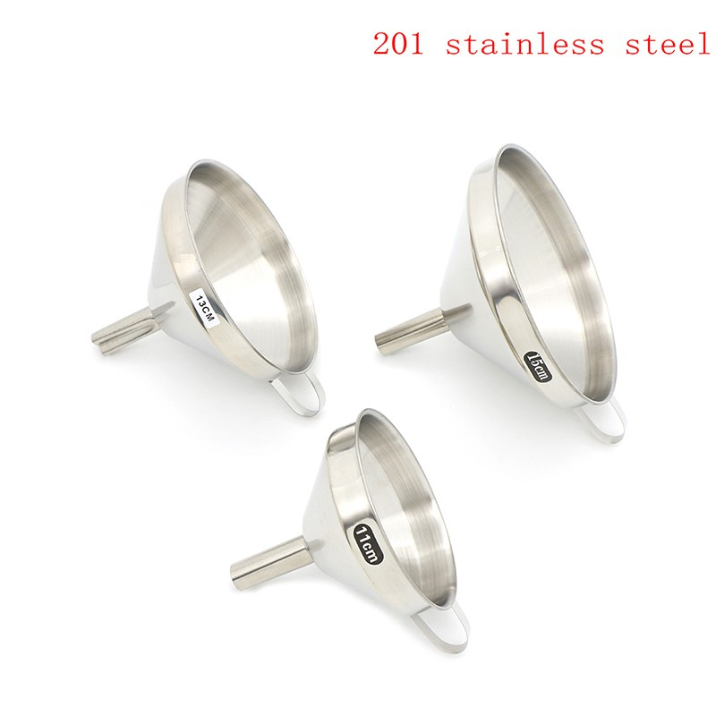 Youyimaoli 1x Kitchen stainless steel wide mouth wine oil honey funnel strainer filter tool