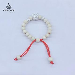 Vòng Dâu Tằm Mix Charm Hình Con Chuột Cho Bé - Minh Canh Jewelry