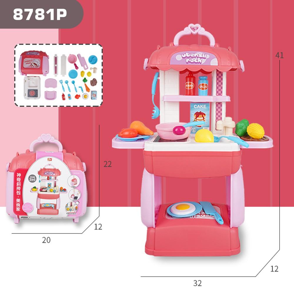 Đồ chơi BOWA 8781P bộ valy nhà bếp 31 chi tiết