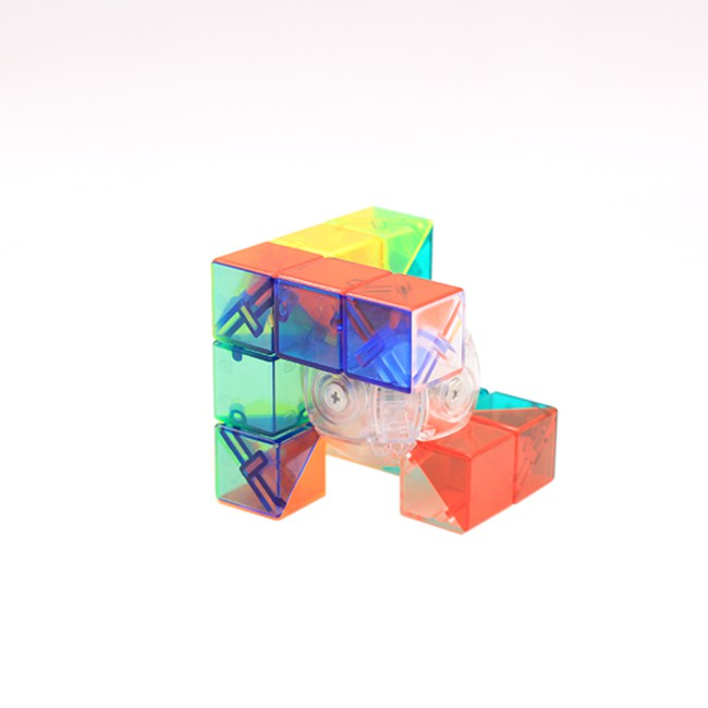 Transparent 6 Color Cube Intellectual Development Speed Puzzle Cubes Educational