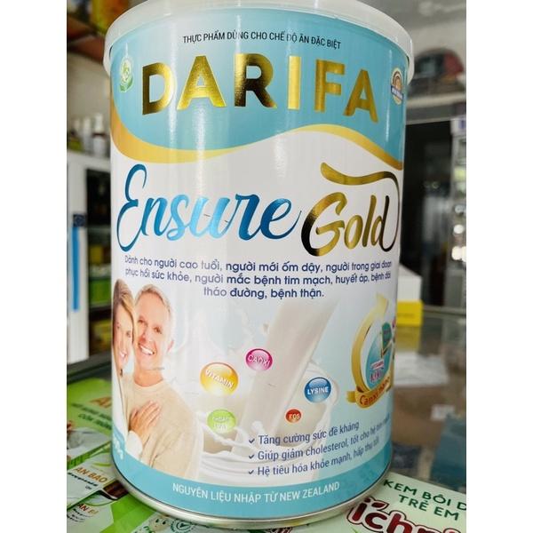 sữa DARIFA ENSURE GOLD 900g, sữa tiểu đường, tim mạch, thận, sữa người cao tuổi