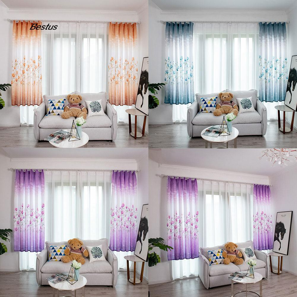 BEST 100x200cm Flower Light Blocking Window Curtain Balcony Drape Patio Hotel Decor