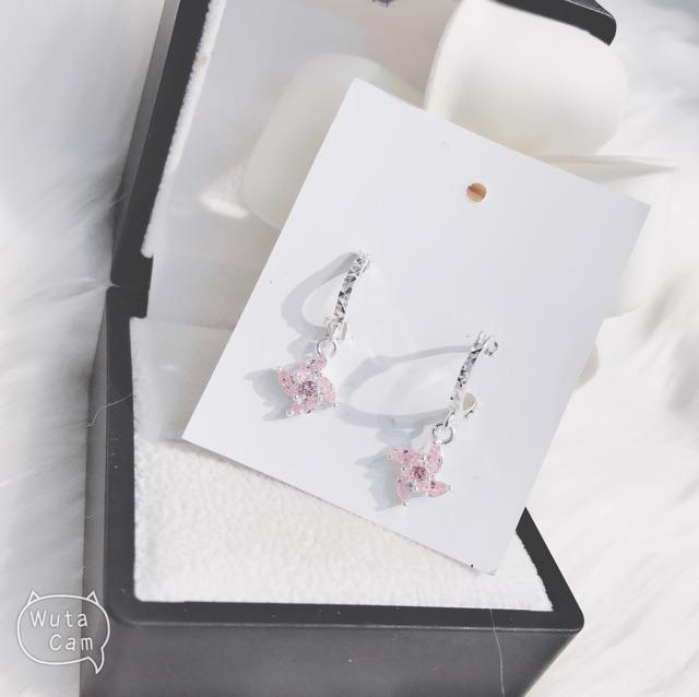 ♥️FREESHIP50K Bông tai cho bé -Bông tai Chong chóng siêu sáng!! bạc 925 cao cấp Chuẩn 100%