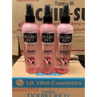 Xịt Dưỡng Tóc Double Rich chăm sóc tóc khô xơ và hư tổn 250ml (mầu hồng)