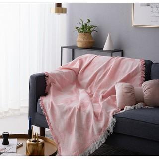 (Hàng có sẵn 90×90 ) KHĂN PHỦ SOFA KÈM TUA RUA SIÊU ĐẸP ( Khăn phủ sofa mang phong cách Bắc Au )