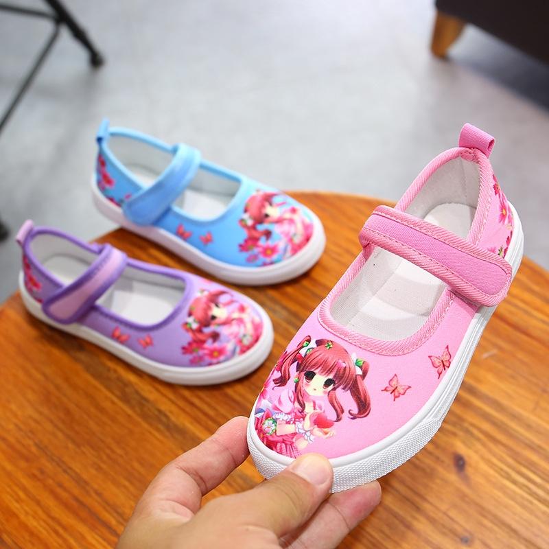 Giày thể thao canvas đế mềm họa tiết hoạt hình thời trang Hàn Quốc dành cho nữ