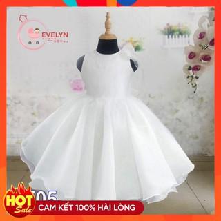 Đầm cho bé gái 👗 FreeShip+ Tặng kèm nơ 🌺 Đầm Công chúa Evelyn Cao Cấp Trắng VF05 E001 E003