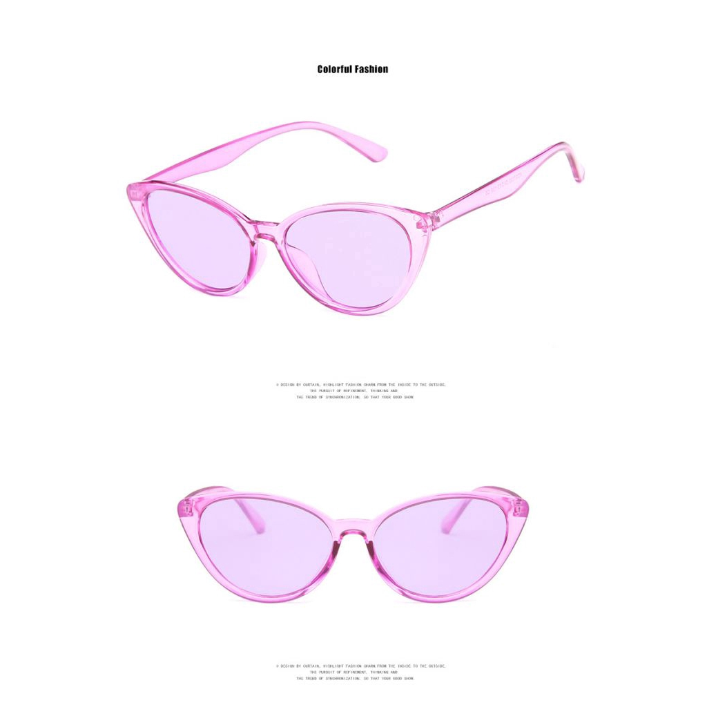 ★ 2019 new European and American sunglasses fashion triangle cat eye sunglasses ♥