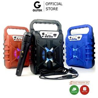 Loa bluetooth karaoke không dây Gutek S292 kèm micro có dây