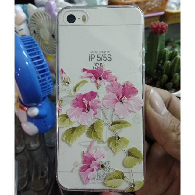 Ốp dẻo iPhone 5 /5s hoa đính đá