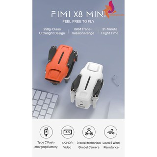 FIMI X8 Mini 8KM FPV Camera 4K Gimbal 3-Axis HDR Video Thời gian bay 30 phút