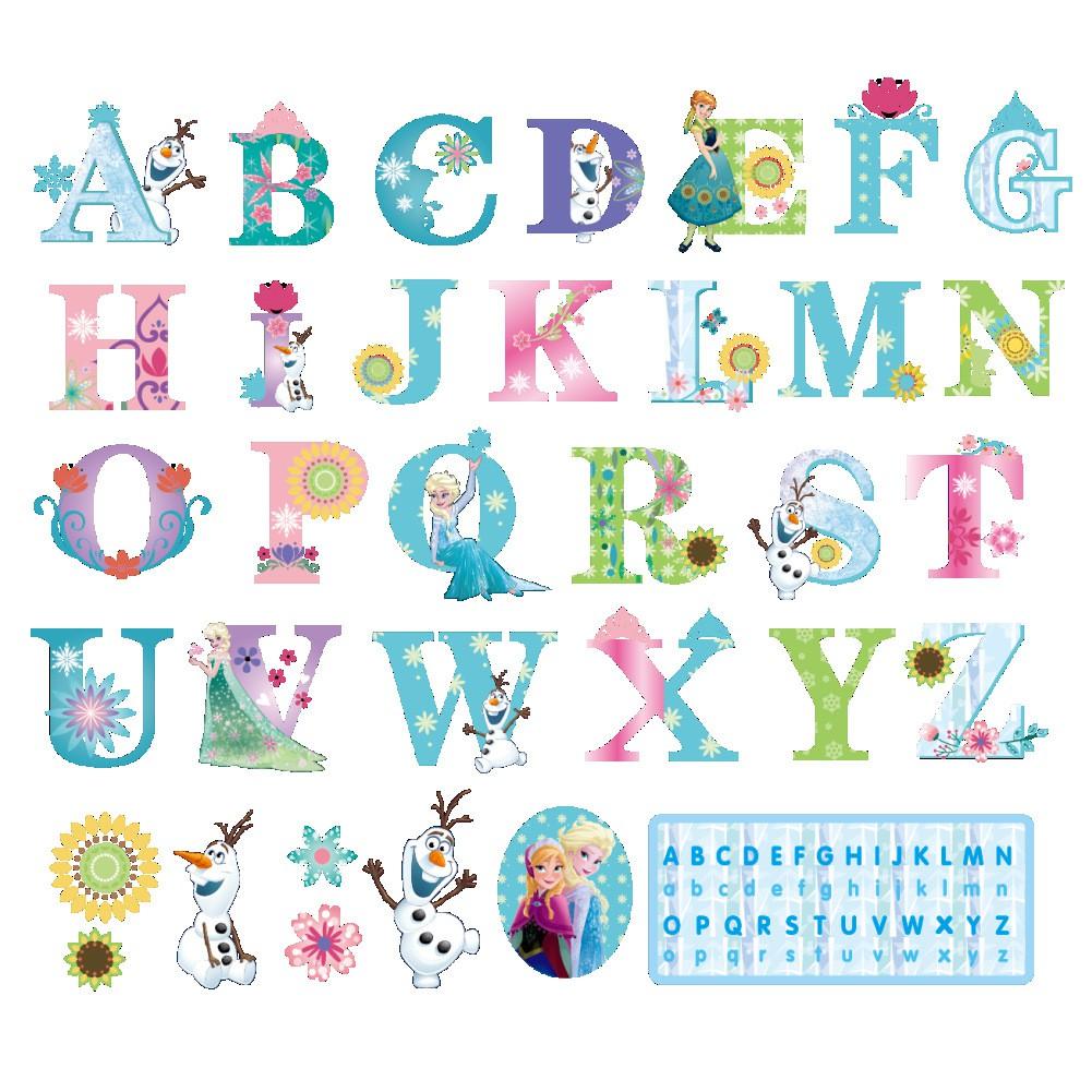 26 Letters Disney Elsa Anna Frozen Princess Wall Sticker Decal Kids Room Cartoon